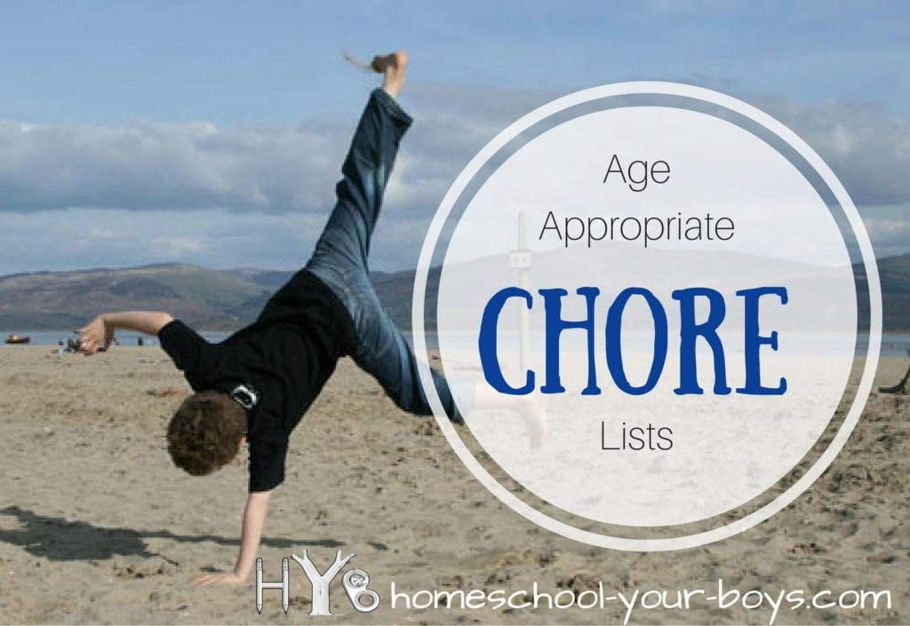 Age Appropriate Chore Lists
