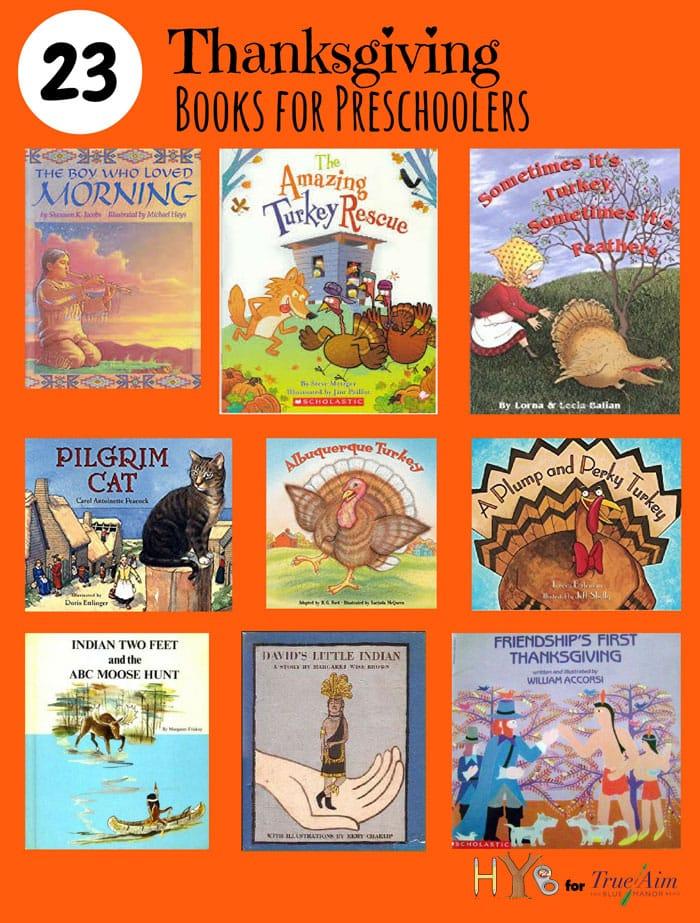 23 Thanksgiving Books for Preschoolers