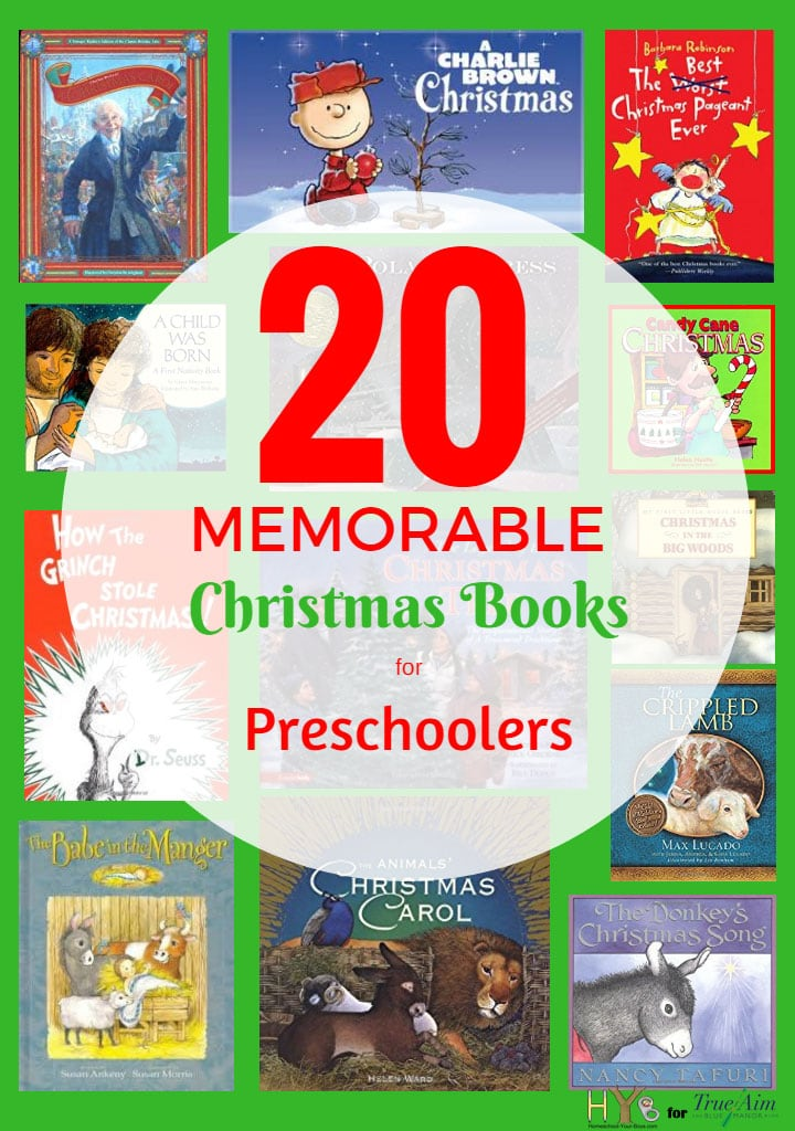 Create memories with these 20 memorable Christmas books for preschoolers! Encourage a love of reading this Christmastime.