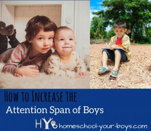 Have a son who lacks concentration? It is possible to improve attention span! With a few simple tweaks, you can increase the attention span of boys! (Post Includes a chart with the Average Length of Child's Attention Span.)
