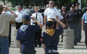 Cub Scouts 9/11 Flag Salute