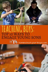 Would you like to know how to teach your young son without killing his natural love for learning? Click through to learn the top 10 ways to approach learning while nurturing your son's curiosity! | teach young son | teach young boys | how boys learn |