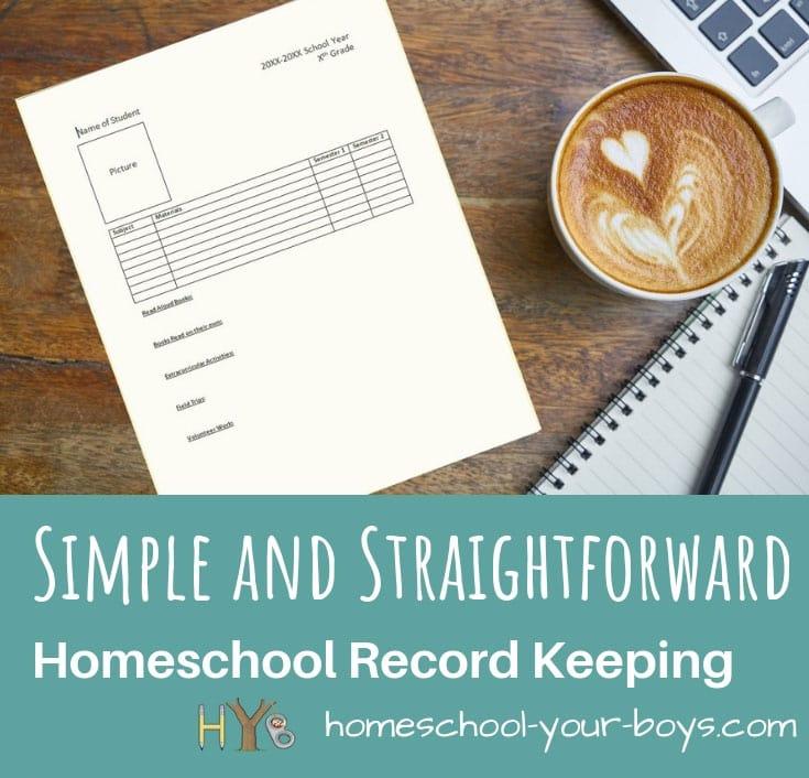 Simple and Straightforward Homeschool Record Keeping