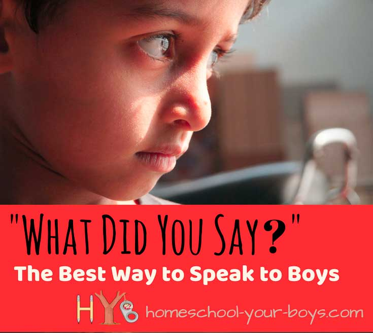 """""""What Did You Say?"""" - The Best Way to Speak to Boys"""