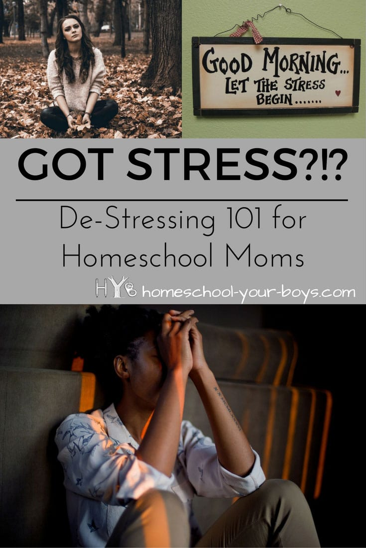 De-Stressing 101 for Homeschool Moms