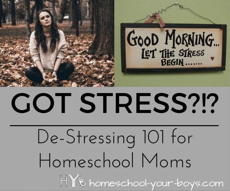 De-Stressing 101 for Homeschool Moms