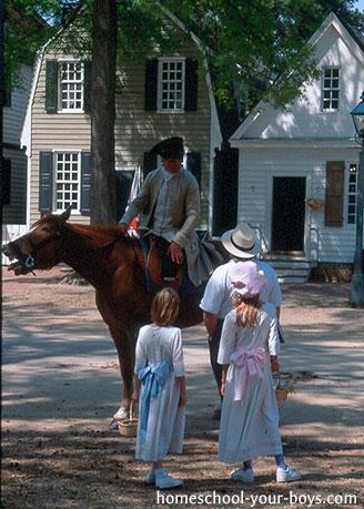 Homeschool Vacation Colonial Williamsburg