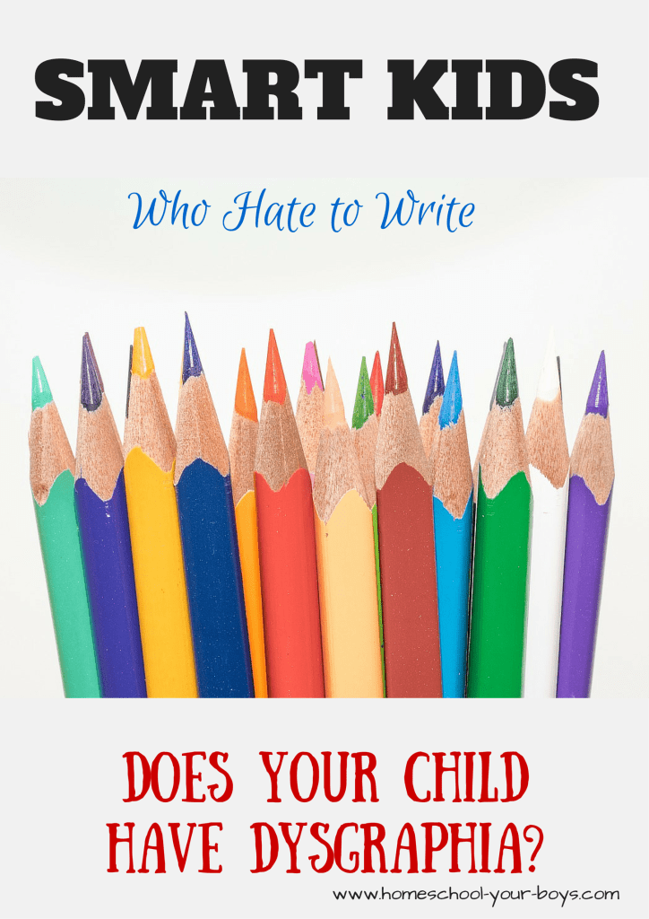 Is your child smart but balks every time you ask them to pick up a pencil? Does he hate to write? Diagnose the problem and overcome these issues at home.