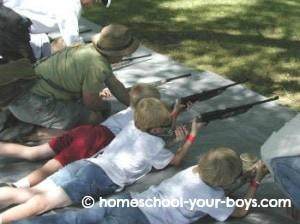 cub scouts shooting bb guns