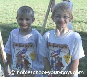 cub scouts at camp
