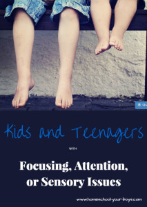 Kids and Teenagers with Focusing, Attention, or Sensory Issues