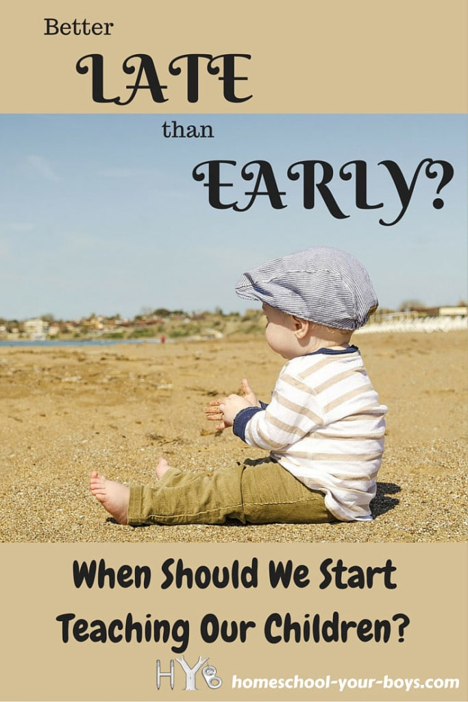 Better Late Than Early? When Should We Start Teaching Our Children?