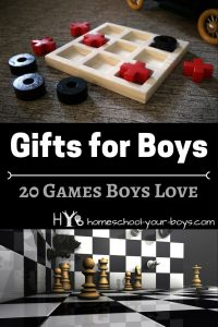Need a boy gift idea? In this post, I talk about 20 games that boys absolutely love. Click through to find the right one for the boy in your life! | boy games | board games | boy gift |
