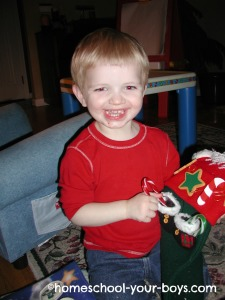Happy to open Christmas Present