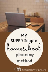 My Super Simple Homeschool Planning Method