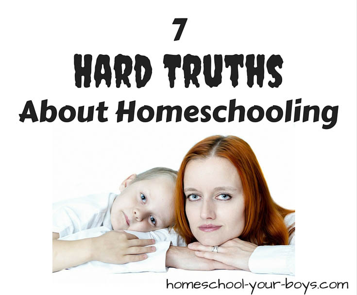 Thinking about homeschooling? Wondering if homeschooling is hard? It is. And there are some hard truths about homeschooling you should know before you get started!