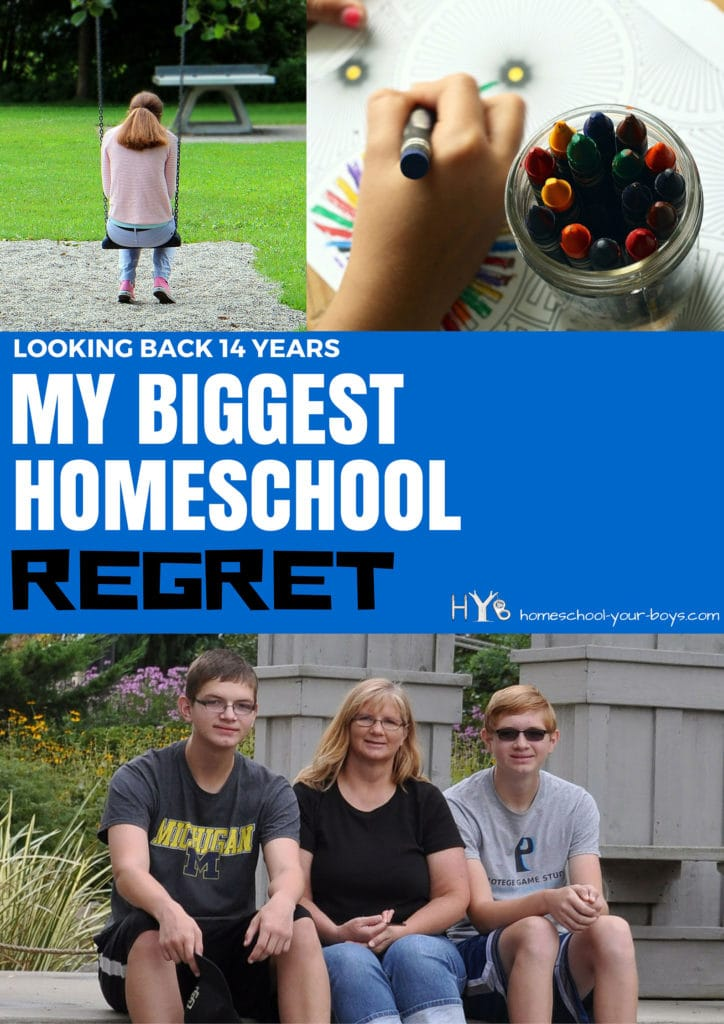 Looking Back 14 Years: My Biggest Homeschool Regret