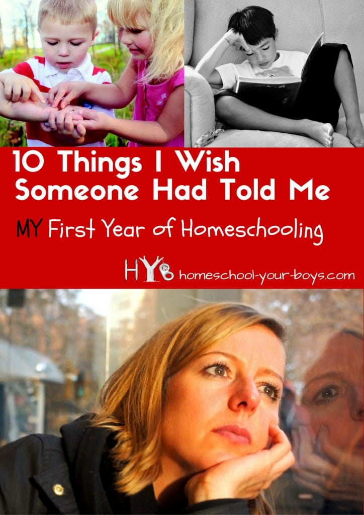 Are you a newer homeschooler? Homeschooling doesn't have to be as hard or worrisome as we sometimes make it. Click through to learn the 10 things I wish someone had told me my first year of homeschooling! | new homeschooler | homeschool advice | homeschool help |
