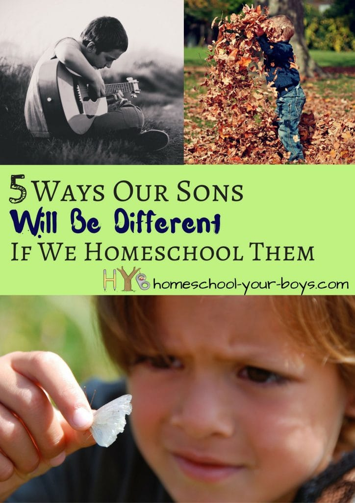 Are you afraid that your sons will be quirky or strange if you homeschool them? Guess what?!? They WILL be different - and that's a good thing. Click through and be encouraged! | homeschool socialization | homeschooled kids different | homeschool encouragement |