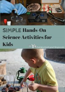 Simple Hands-On Science Activities for Kids -- Hands-on science experiments are awesome learning opportunities. But they're also a giant PAIN for moms. Or are they?!? Turns out they can be simple!