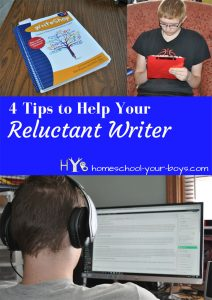 4 Tips to Help Your Reluctant Writer - Writing is one of those subjects that can be DREADFUL if you aren't sure how to teach it. And being a writer makes it worse. Here's a way to ease the pain!
