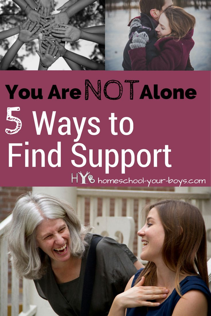 Ever feel alone? Homeschooling can be a lonely journey. In my post, I will show you 5 simple ways to show support. Click through to see these tips!   homeschool support   find support   homeschool mom lonely 