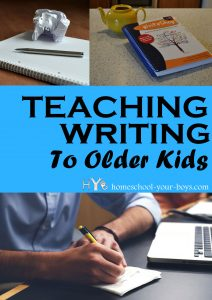 Teaching Writing to Older Kids - Are your older kids struggling with their writing? Had you had trouble teaching writing to them? The program you choose can make all the difference!