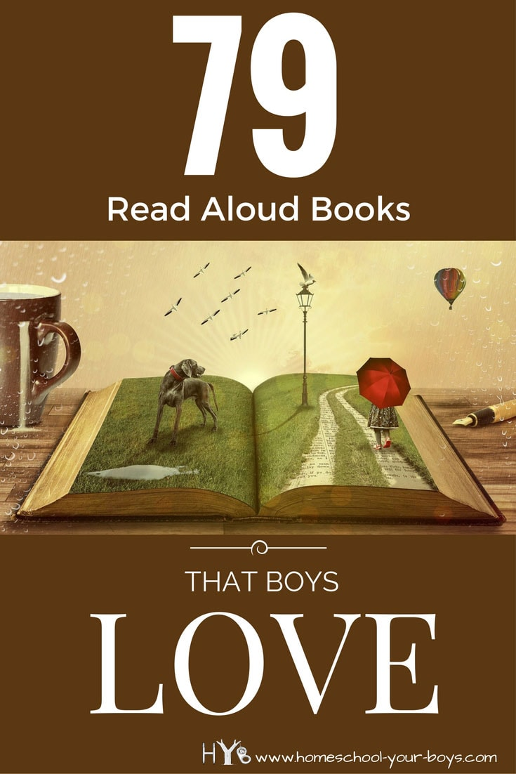 Want to find some read aloud books that your boys will love? Click through to see these suggestions that we my boys AND my readers have enjoyed! | read aloud books | read aloud | books boys love | boy books |