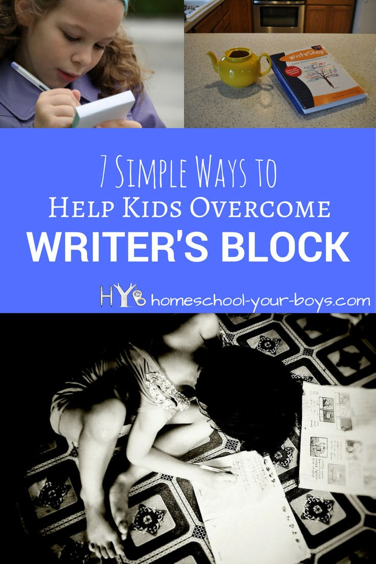 7 Simple Ways to Help Kids Overcome Writer's Block - Wondering how to help your child overcome writer's block?!? Want to learn ways to help ease kids into writing and make the process fun? It's possible!