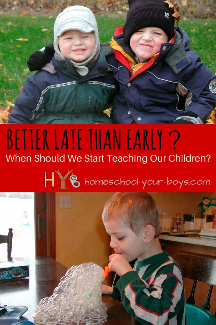 Better Late Than Early? When Should We Start Teaching Our Kids?