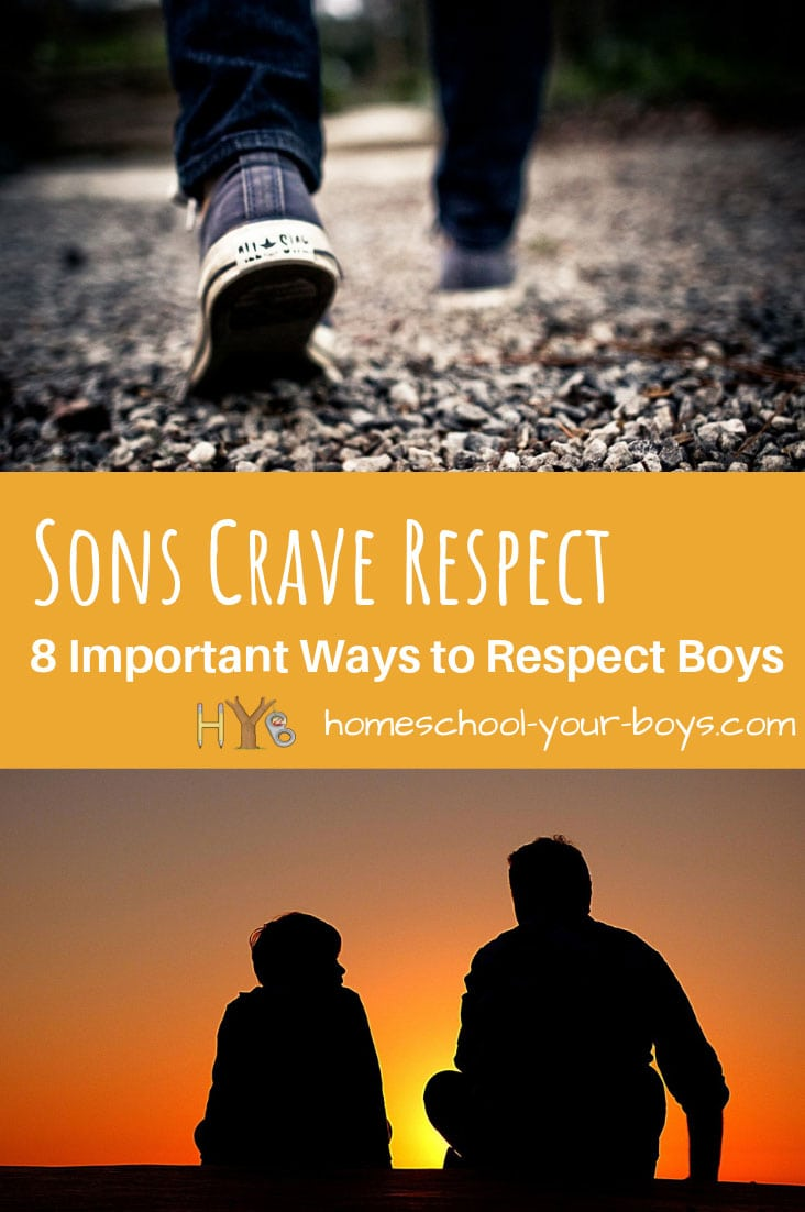 Boys, like their fathers, crave respect. Here are 8 important ways to respect boys and create a more peaceful and loving relationship with your son. #boymom #respect #respectson #respectboys #respectson #howtoshowrespect #showrespect #waystoshowrespect #howtoshow respecttoaman #manneedsrespect #menneedrespect #howtoshowrespect