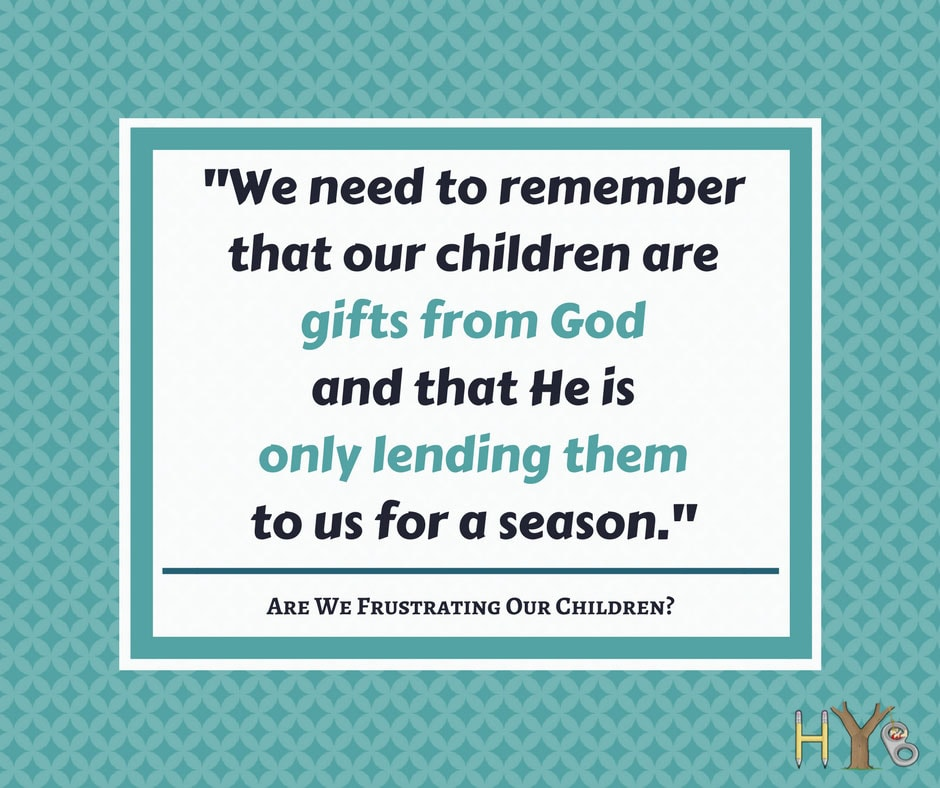 Are we frustrating our children?