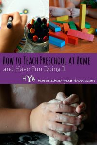 How to Teach Preschool at Home and Have Fun Doing It