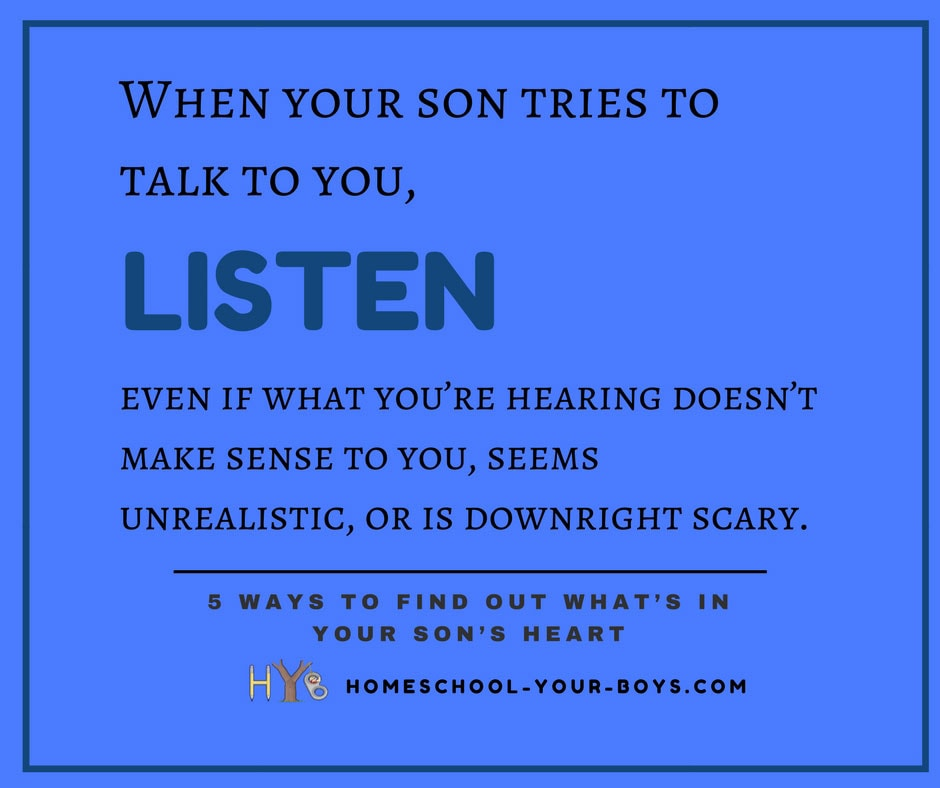 5 Ways to Find Out What's In Your Son's Heart
