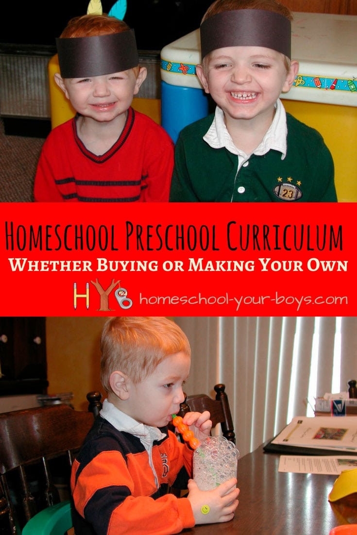 Make Your Own Homeschool Preschool Curriculum - Interested in homeschooling your preschooler? Check out these tips for coming up with a homeschool preschool curriculum.