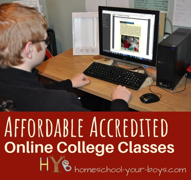 affordable accredited online college classes
