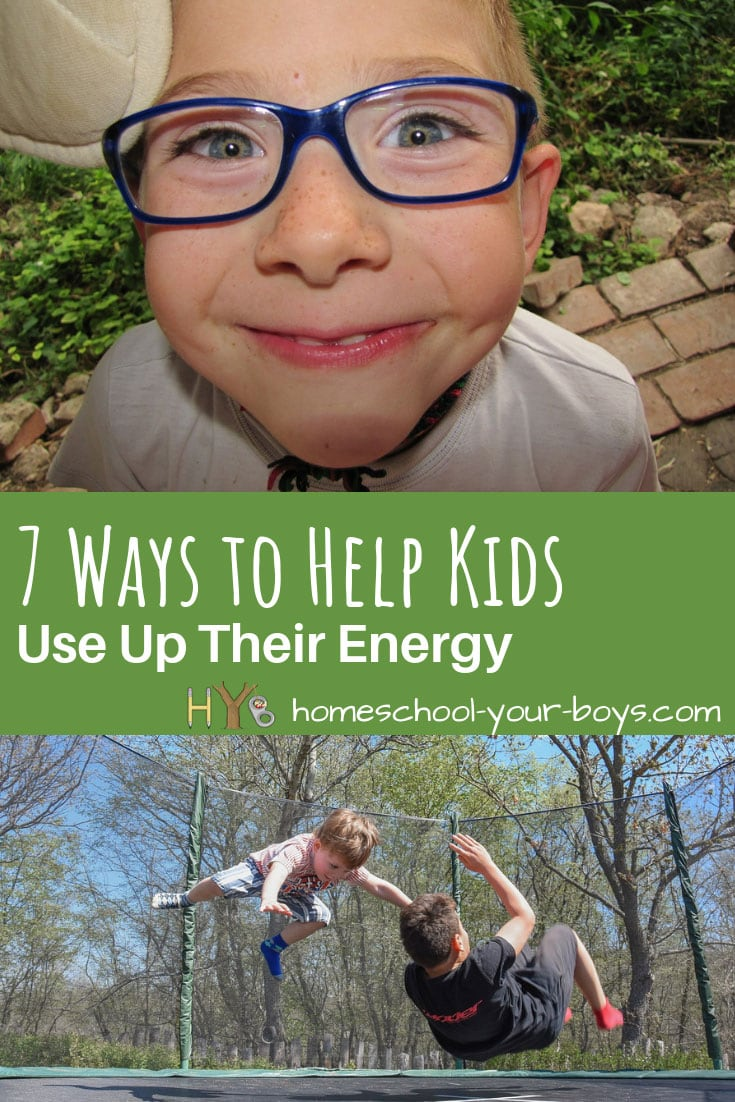 Looking for ways to help kids use up their energy? If your kids are RESTLESS and BORED or you have a child with high energy, here are some ideas for helping them release some steam and have fun!