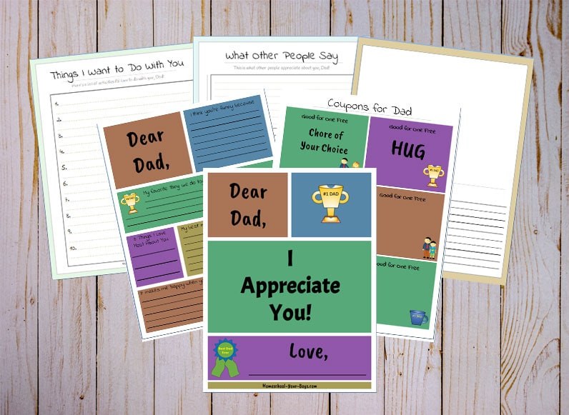 Free Father's Day Appreciation Book Printable