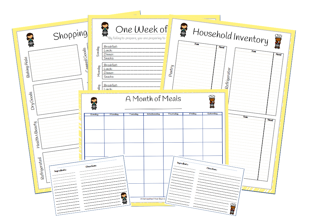 Free Printable Grocery List and Menu Planner