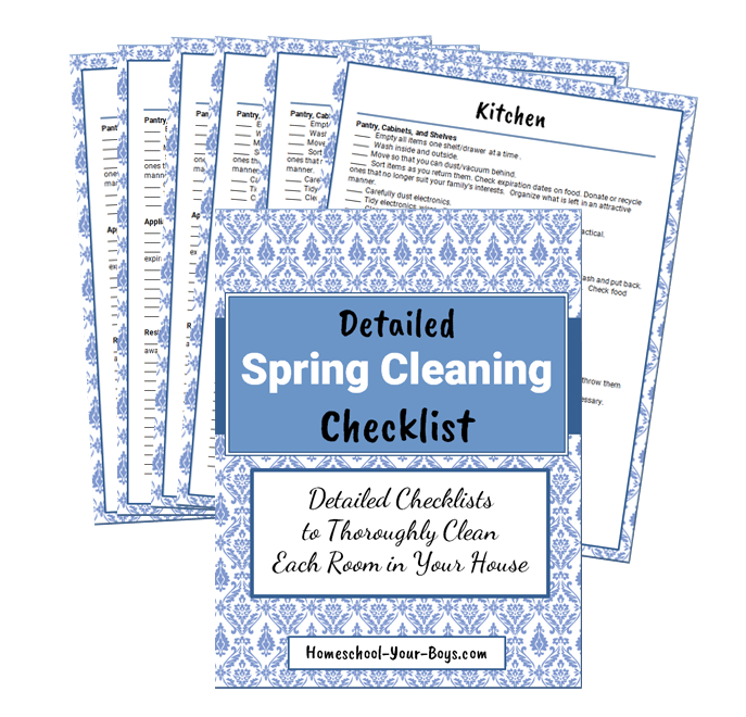 Detailed Spring Cleaning Worksheets