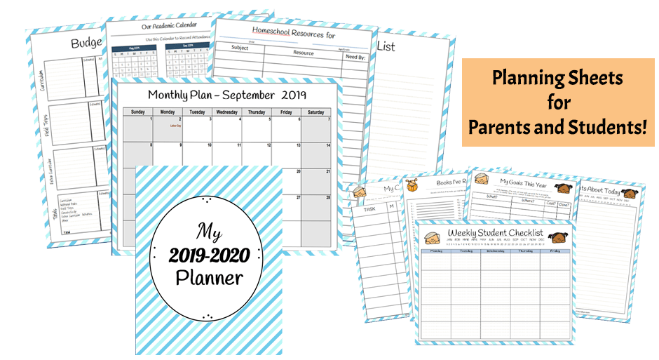 2018-2019 Homeschool Planner for moms and students