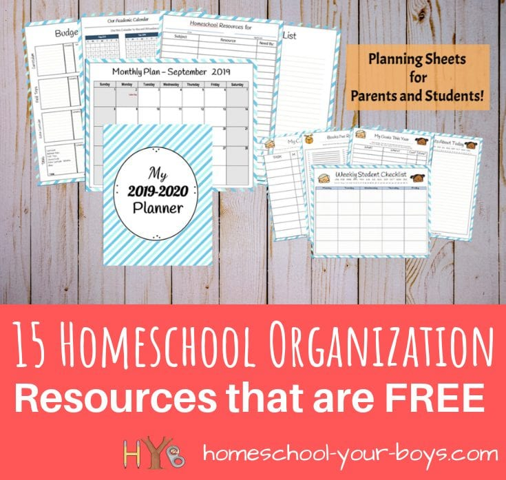 15 Homeschool Organization Resources that are FREE